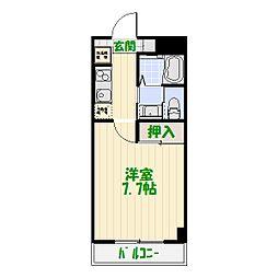 クラン カナイII[0102号室]の間取り