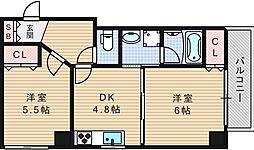 ZEUS難波CUBE[7階]の間取り