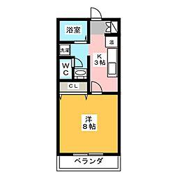 サンfriend's鳴子[1階]の間取り
