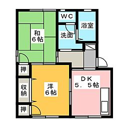 プロシードKEN D[2階]の間取り