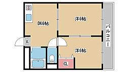兵庫県神戸市中央区吾妻通5丁目の賃貸マンションの間取り