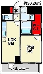 フェルト127 5階1DKの間取り