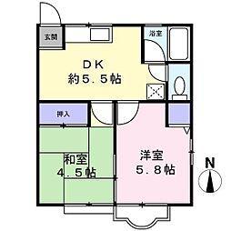 シティハイム大泉[1階]の間取り