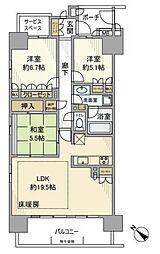 マインループ八潮[15階]の間取り
