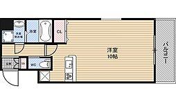 ダイドーメゾン大阪・堂島 7階ワンルームの間取り