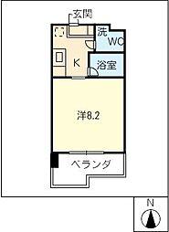ウランTOWER[4階]の間取り