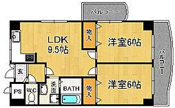 兵庫県宝塚市高司3丁目の賃貸マンションの間取り
