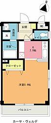 埼玉県上尾市緑丘1丁目の賃貸アパートの間取り