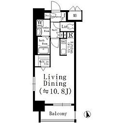 名古屋市営鶴舞線 大須観音駅 徒歩8分の賃貸マンション 12階1Kの間取り