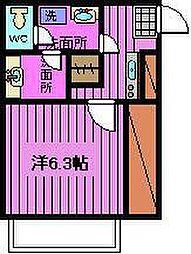 ヴェール大牧 B棟[2階]の間取り