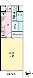 アリアファーレ白糸台[1階]の間取り