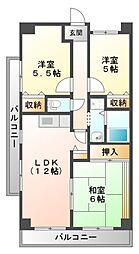 パシフィックマンション[2階]の間取り