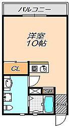 兵庫県神戸市灘区城内通3丁目の賃貸アパートの間取り