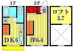 [テラスハウス] 千葉県松戸市吉井町 の賃貸【/】の間取り
