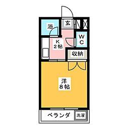 大嶋ハイツII[3階]の間取り