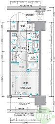 ESLEAD SHINOSAKA GRAND GATE SOUTH 5階1Kの間取り