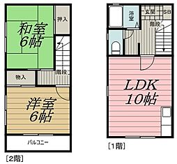 [タウンハウス] 千葉県千葉市中央区星久喜町 の賃貸【/】の間取り
