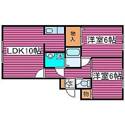 北海道札幌市東区北四十五条東12丁目の賃貸マンションの間取り