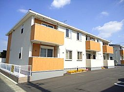 愛知県西尾市熊味町東平角の賃貸アパートの外観