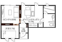 bouleau blanc[1階]の間取り