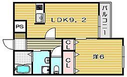 メゾン東雲[1階]の間取り