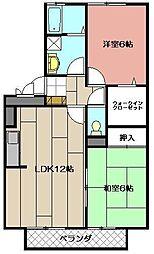 ポサーダ平田[203号室]の間取り