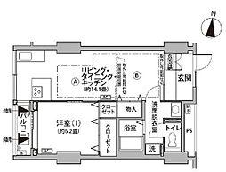 東京メトロ有楽町線 辰巳駅 徒歩9分の賃貸マンション 11階1LDKの間取り