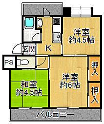 西大島住宅[3階]の間取り