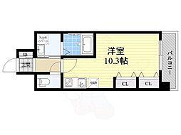 名古屋市営名城線 久屋大通駅 徒歩7分の賃貸マンション 10階ワンルームの間取り