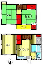 [一戸建] 千葉県柏市加賀2丁目 の賃貸【/】の間取り