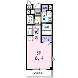 メゾンドサカエ・2[1階]の間取り
