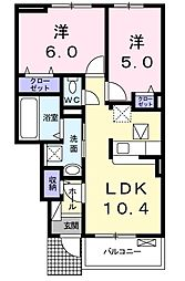 仮)北沖洲アパート[102号室]の間取り