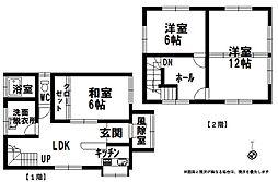 新潟県上越市頸城区日根津 2階3LDKの間取り