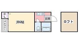 福岡県糸島市前原北4丁目の賃貸アパートの間取り