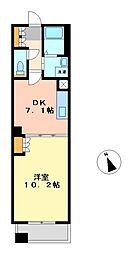 愛知県名古屋市東区白壁2丁目の賃貸マンションの間取り