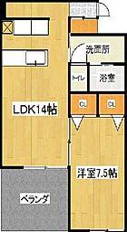 SakuraGarden東刈谷A館[405号室]の間取り