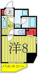 JR山手線 駒込駅 徒歩3分の賃貸マンション 3階1Kの間取り