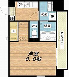 S-FORT福島Libre 2階1Kの間取り
