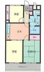 薫ガーデンハイム(カオルガーデンハイム)[3階]の間取り