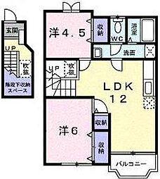 SUNCRESTALL II[2階]の間取り