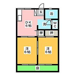 サンシティVALIOII[1階]の間取り