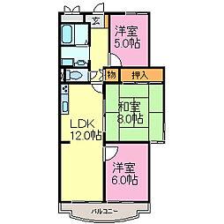 新舞子シーサイドマンション[206号室]の間取り