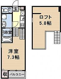 仮称)京都市山科区大宅関生町SKHコーポ[B202号室号室]の間取り