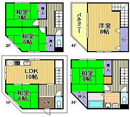Osaka Metro中央線 朝潮橋駅 徒歩16分 5LDKの間取り