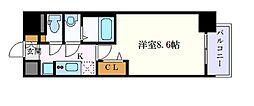名古屋市営鶴舞線 大須観音駅 徒歩4分の賃貸マンション 7階1Kの間取り
