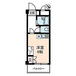 シーサイドカモシタ[2階]の間取り