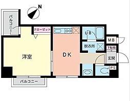 神奈川県横浜市中区初音町1丁目の賃貸マンションの間取り