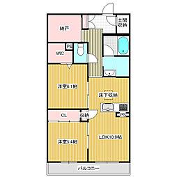仮称)学園の森三丁目新築 2階2LDKの間取り