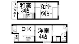 [テラスハウス] 大阪府守口市大久保町2丁目 の賃貸【/】の間取り