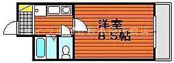 岡山県倉敷市徳芳丁目なしの賃貸マンションの間取り